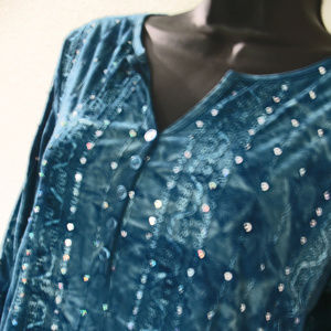 Size Medium Stretch top with bling by Dressbarn